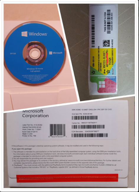 Genuine Windows 10 Home  Full Version  32 / 64 Bit Digital Download  With Life Time Warranty