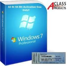 China Windows 7 Professional Pro COA Product Key Sticker OEM online Activation supplier