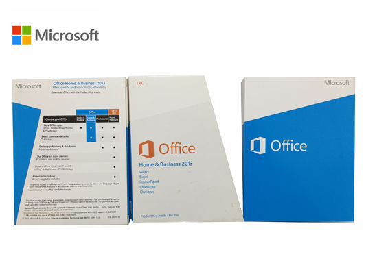 China Microsoft Office 2013 FPP Retail Key 13 Home and Business Key Code supplier