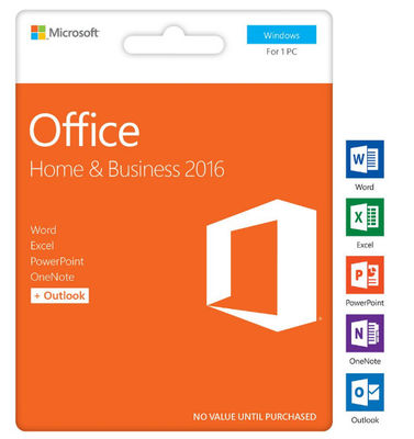 China Microsoft Office Home and Business 2016 Retail product Key Genuine Online Activation For Windows -1PC supplier