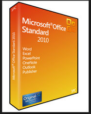 China 32 / 64 Bit Product Key Code PC Computer Software Microsoft Office 2010 Standard Digital Download supplier