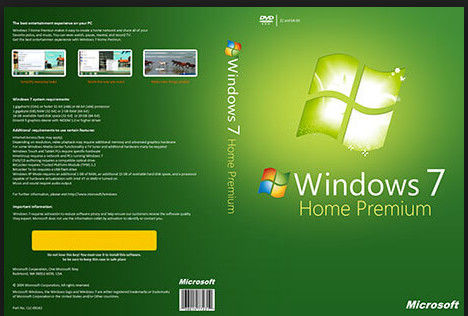 China Full Language COA License Sticker , Microsoft Windows 7 Home Activation OEM Key 32/64 Bit supplier