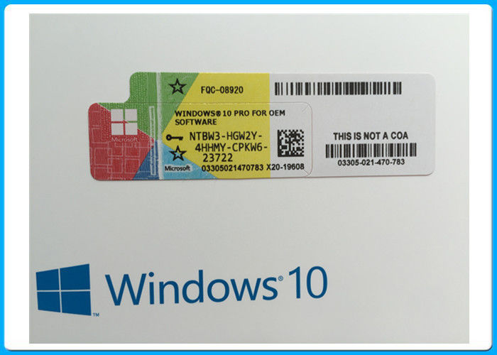 Windows 10 Professional COA License Sticker , Windows 10 Pro Retail Box