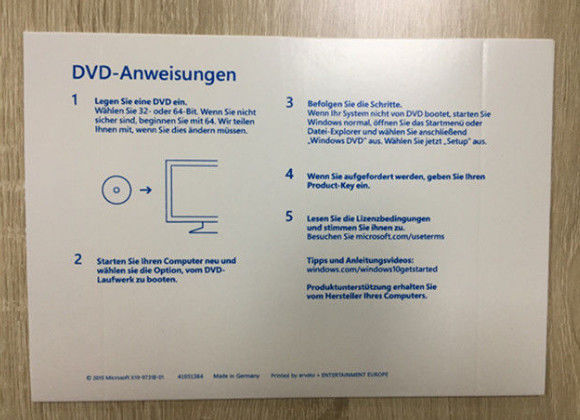 windows 10 home dvd and license key