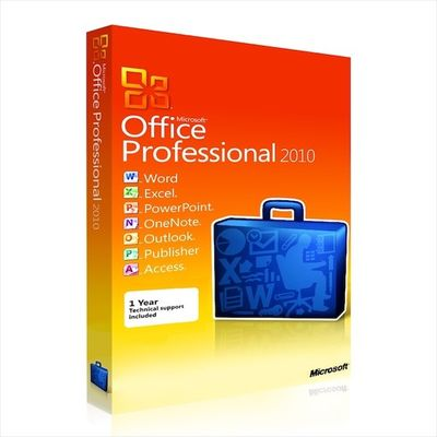 China Genuine Software  Office Professional 2010 Retail Genuine Software Product Key  suit 32 / 64 bit distributor