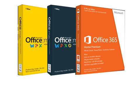 China DVD Box MAC Office 2011 HB Online Upgrade Install Microsoft Office With Product Key distributor