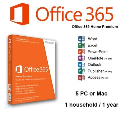 China 32 / 64 Bit Microsoft Office 365 Product Key Home Premium Online Subscription factory