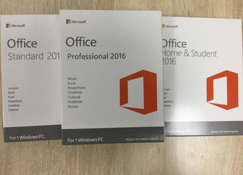 China Full Version Microsoft Office Professional Plus 2016 License Key / Retail Package distributor