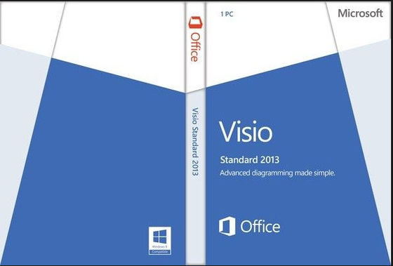 China 32/64- Bit Microsoft Office Visio Standard 2013 License And Download distributor
